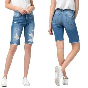 NWT Flying Monkey Jeans Pixel Distressed Shorts